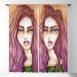 Original Watercolor Illustration by Jenny Manno Art/kara Blackout Curtain