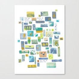 """Storyboard """"pour que demain existe encore"""" Canvas Print"""