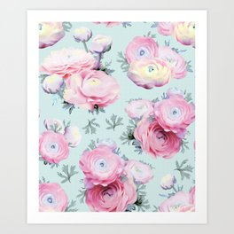 Modern Floral Pastel Art Print