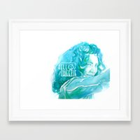 river song Framed Art Prints featuring River Song by Erin Garey