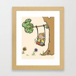 Swing. Framed Art Print