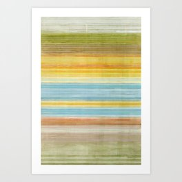 Colorbands Yellowstone Yellow Art Print