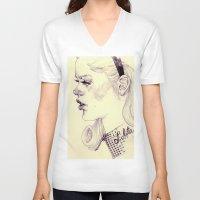 lolita V-neck T-shirts featuring lolita by adria mercuri