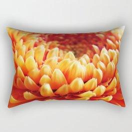 Orange Germini Close Up 2 Rectangular Pillow