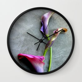Colorful Callas Wall Clock