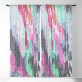 embroidered space Sheer Curtain