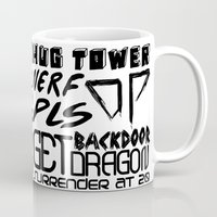 league Mugs featuring League of Legends Quotes by Erick Navarro