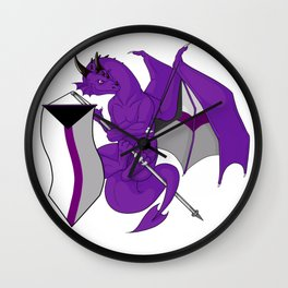 Pride Dragons - Demisexual Flag Wall Clock