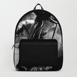 Horse-1-B&W Backpack