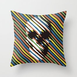 Stripe Skull Throw Pillow