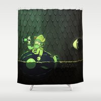nemo Shower Curtains featuring Captn Nemo And the Whale by Josmen9016