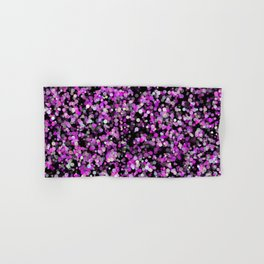 Pink, White and Black bubble texture Hand & Bath Towel