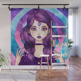 Purple Goth Witch Wall Mural