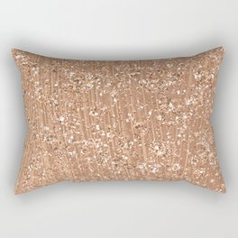 Rose gold brushstrokes and glitter Rectangular Pillow