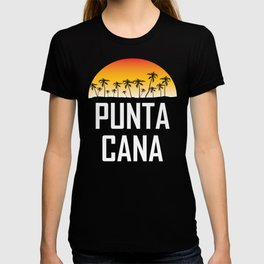 Punta Cana Sunset And Palm Trees Beach T-shirt