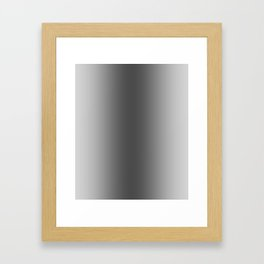 Gray to Black Vertical Bilinear Gradient Framed Art Print