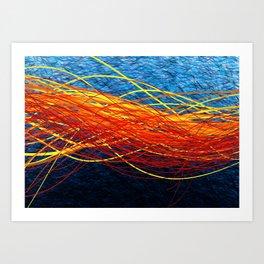 Radiant Flow4 Art Print