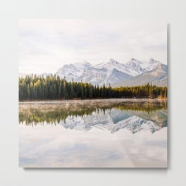 Lake, forest and mountains Metal Print