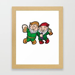 ST PATRICK GNOME PARTY Leprechaun Irish Party Beer Framed Art Print