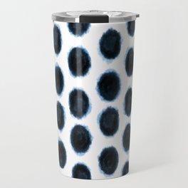 Geometric Indigo Shibori Travel Mug