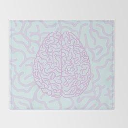 Pastel Brain Throw Blanket