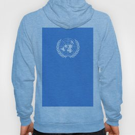 Flag on United nations -Un,World,peace,Unesco,Unicef,human rights,sky,blue,pacific,people,state,onu Hoody