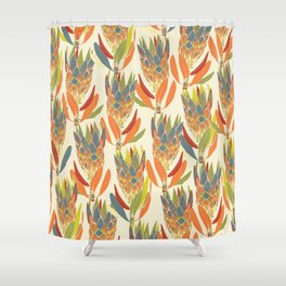 Protea pattern - wildflowers Shower Curtain