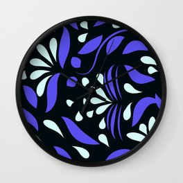 abstract seamless floral pattern exotic shapes Wall Clock