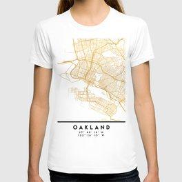 OAKLAND CALIFORNIA CITY STREET MAP ART T-shirt