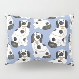 Staffordshire Dog Figurines No. 2 in Dusty French Blue Pillow Sham