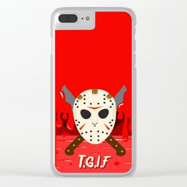 T.G.I.F- Friday the 13th Clear iPhone Case
