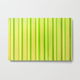 Stripes - Lemon-Lime Metal Print