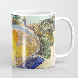 Still Life of Oranges and Lemons with Blue Gloves  by Vincent Van Gogh. European finest art. Coffee Mug