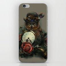 Sir Owl. Steampunk iPhone & iPod Skin