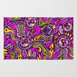 Purple Tribal Fish Digital Painting Rug