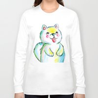 puppy Long Sleeve T-shirts featuring Puppy by Suvi Kari