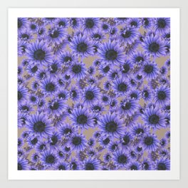 Purple Sunflowers Art Print