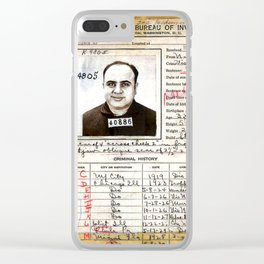 Al Capone Mugshot and Criminal History - © Doc Braham; All Rights Reserved. Clear iPhone Case