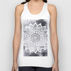 BOHO WHITE NIGHTS MANDALA Unisex Tank Top