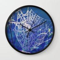 dreamcatcher Wall Clocks featuring dreamcatcher by Luiza Lazar