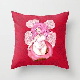 Donut Queen Throw Pillow