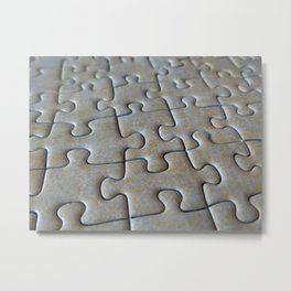 Puzzle Pieces in Its Place Metal Print