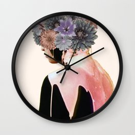 Flowers Bloom, Mind Drips Out Wall Clock