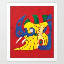 MAYAN GLYPH OF E ALOM Art Print