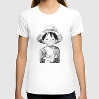 luffy T-shirts featuring WANTED - Luffy by josemaHdeH