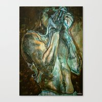 workout Canvas Prints featuring The Workout by ASHe Levesque