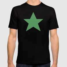 Star Black LARGE Mens Fitted Tee