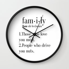 Family Definition Art, Family Wall Art, Family Definition, Funny Definition Art, Family Print, Defin Wall Clock