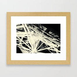 Spider Roof Struts Abstract Framed Art Print