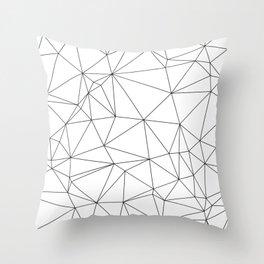 Black and White Geometric Minimalist Pattern Throw Pillow